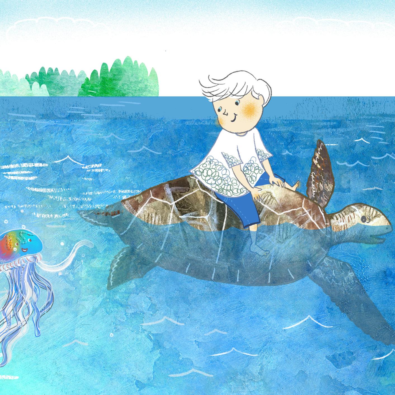 Bild von  Die Rettung der Meeresschildkröte